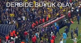 Beşiktaş Fenerbahçe maçında büyük kavga maç ertelendi