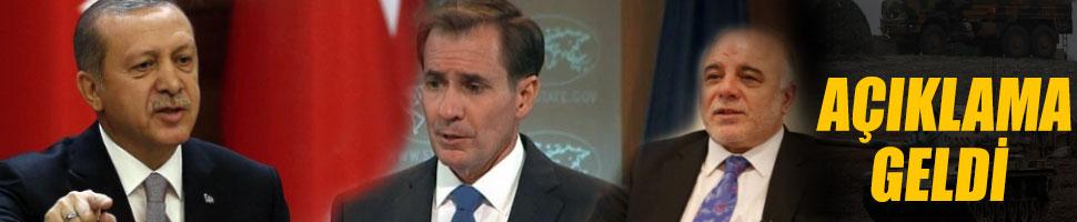 ABD'den Cumhurbaşkanı'nın açıklamalarına cevap