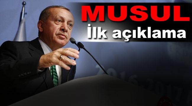 Cumhurbaşkanı Erdoğan'dan önemli Musul operasyonu açıklaması