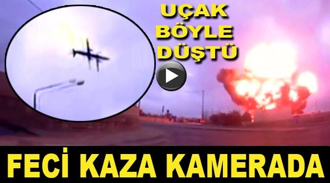 Malta'da uçağın düşme anı görüntülendi