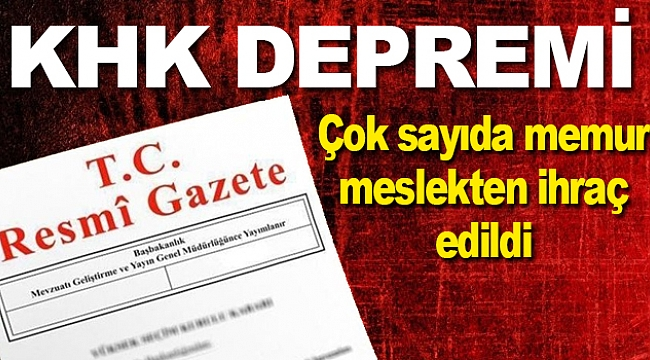 Samsun'da bir çok kamu personeli meslekten ihraç edildi