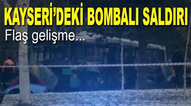 Kayseri'deki bombalı saldırıya 20 tutuklandı