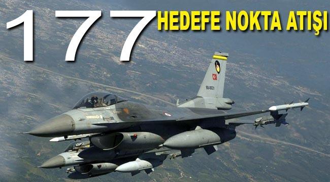 Türk jetleri 177 DEAŞ hedefini imha etti