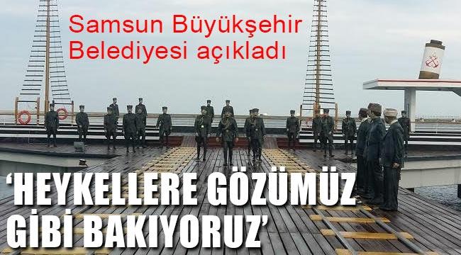 Samsun'daki Atatürk Heykeli haberi gerçeği yansıtmıyor