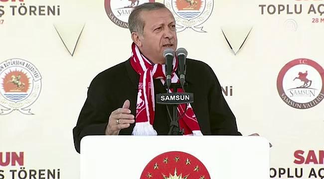 Cumhurbaşkanı Erdoğan Samsun mitinginde önemli açıklamalar yaptı