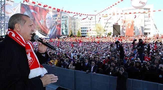 Cumhurbaşkanı Erdoğan Samsun mitingine rekor katılım