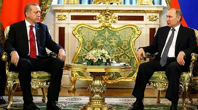 Cumhurbaşkanı Erdoğan ve Putin görüşmesi