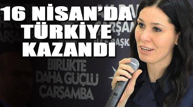 Çiğdem Karaaslan, 16 Nisan'da Türkiye kazandı