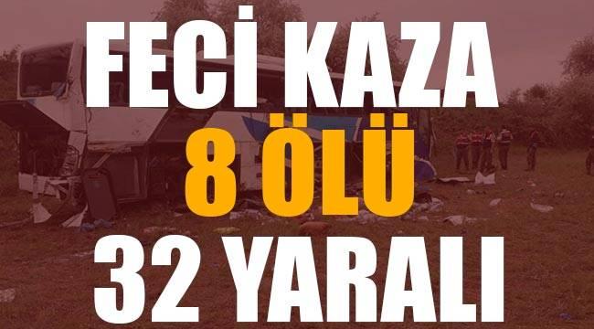 Ankara'da yolcu otobüsü kaza yaptı 8 ölü, 32 yaralı