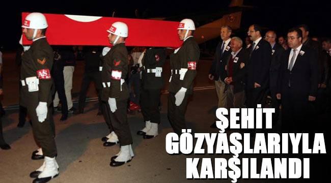Şehit Mustafa Özdemir Samsun'a getirildi