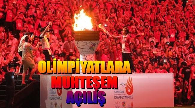 Samsun'da olimpiyatlara muhteşem açılış