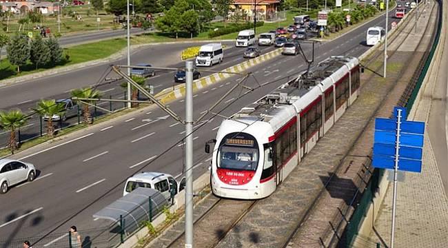 Samsun'da tramvay o gün ücretsiz