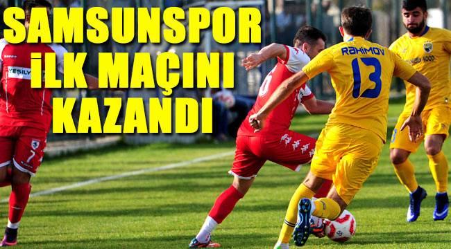 Samsunspor Kapaz ile oynadığı hazırlık maçını kazandı