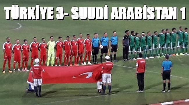 Türkiye, Suudi Arabistan'ı farklı yendi