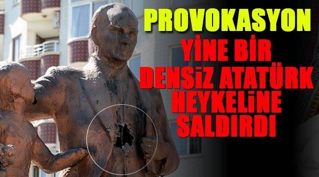 Provokatörler yine devre Atatürk anıtına çekiçli saldırı