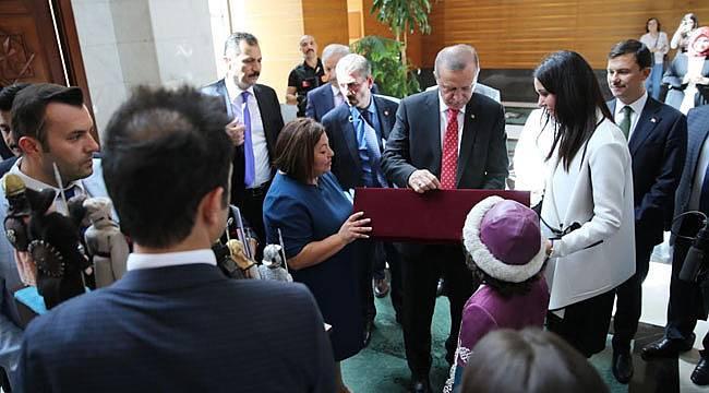 Cumhurbaşkanı Erdoğan'a Samsun'dan hediye