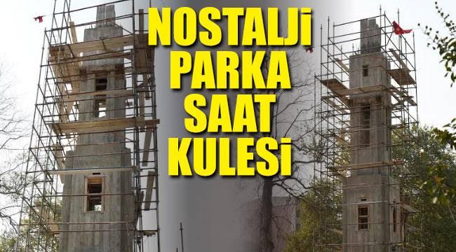Tekkeköy'de nostalji parka saat kulesi