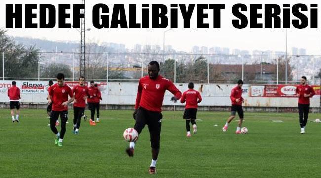 Samsunspor galibiyet serisine odaklandı