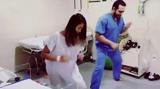 Doktor hamile hastalarını dans ile doğuma hazırlıyor
