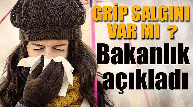 Grip salgını için Sağlık Bakanlığı'ndan rahatlatan açıklama geldi