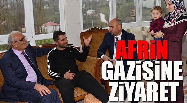 Afrin Gazisine Başkan yılmaz'dan ziyaret
