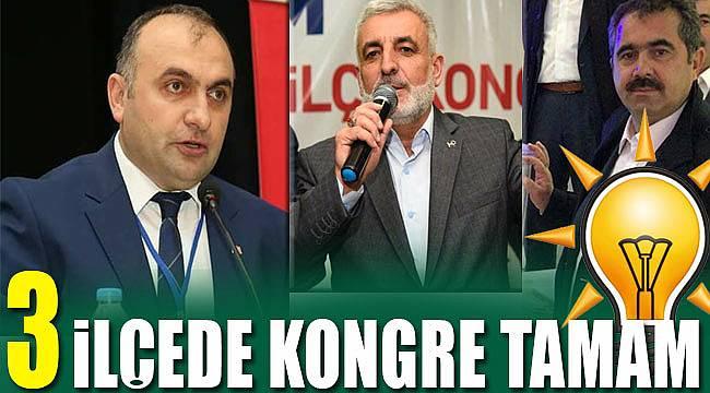 AK Parti'de 3 ilçede kongre tamamlandı