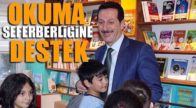 Kütüphane desteği Başkan Tok'dan