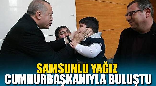 Samsunlu Yağız Cumhurbaşkanı ile buluştu
