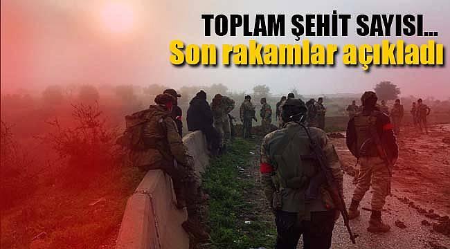Afrin'de son şehit sayısı açıklandı