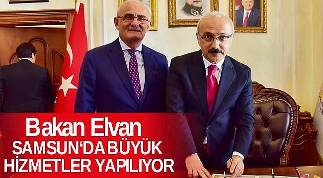 Bakan Elvan, Samsun'a önemli hizmetler yapılıyor