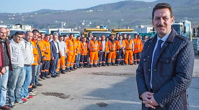 Başkan Tok, işçinin yanında