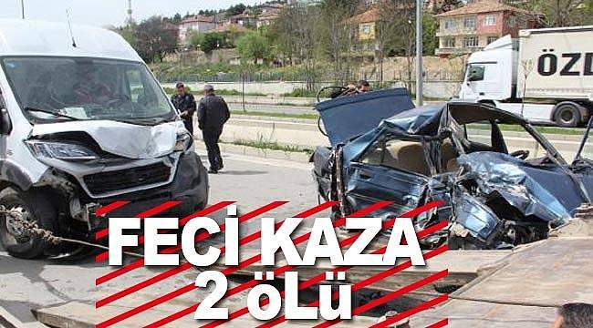 Havza'da feci kaza 2 kişi öldü