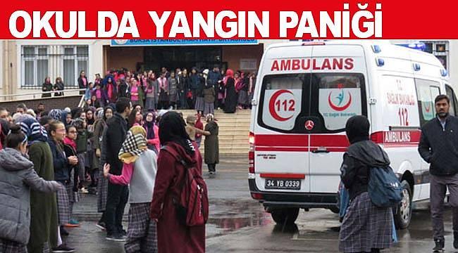 Okulda yangın büyük paniğe neden oldu