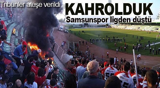 Samsunspor ligden düştü, şehir kahroldu olaylar çıktı