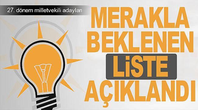 AK Parti Samsun milletvekili aday listesi belli oldu