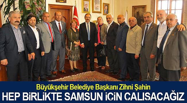 Başkan Şahin, birlikte Samsun için çalışacağız