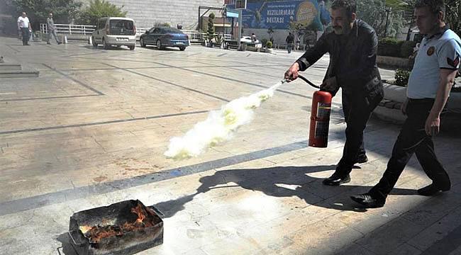 Büyükşehir de yangın tatbikatı