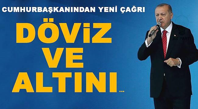Cumhurbaşkanı Erdoğan'dan döviz altın çağrısı