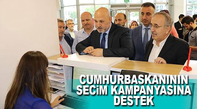 Cumhurbaşkanı'nın seçim kampanyasına Samsun'dan destek