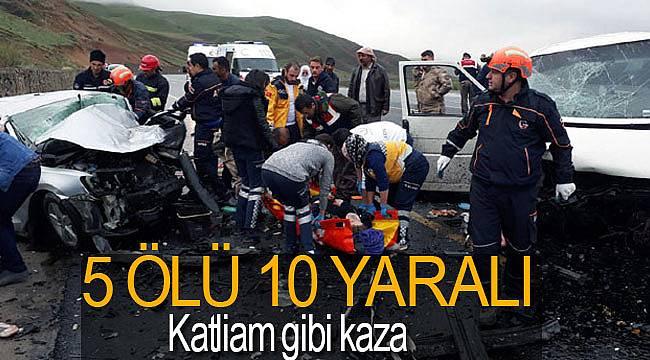 Erzurum'da katliam gibi kaza 5 ölü