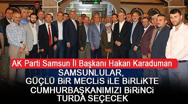 Samsun'dan AK Parti'ye güçlü destek