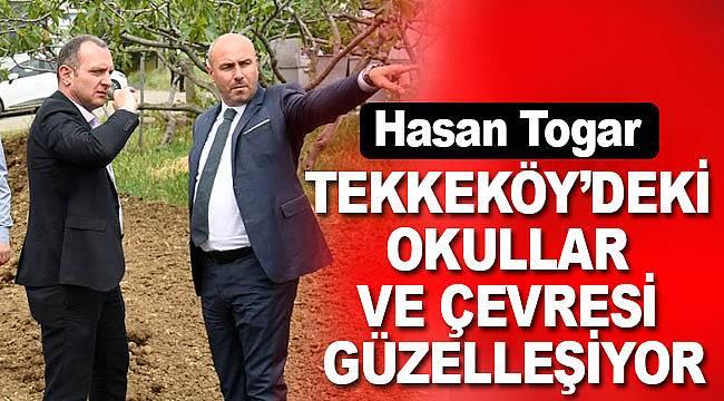 Tekkeköy'deki Okullar ve Çevreleri Güzelleşiyor