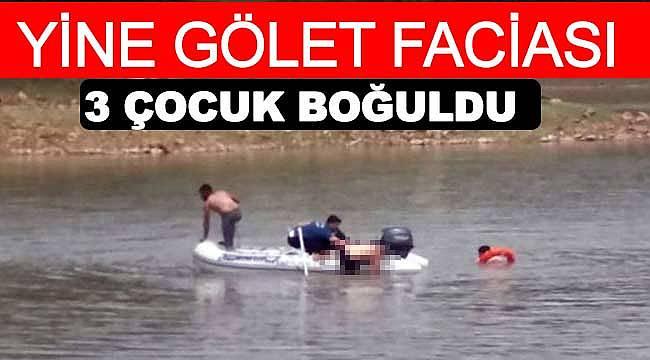 3 çocuk gölet ve ırmakta boğuldu