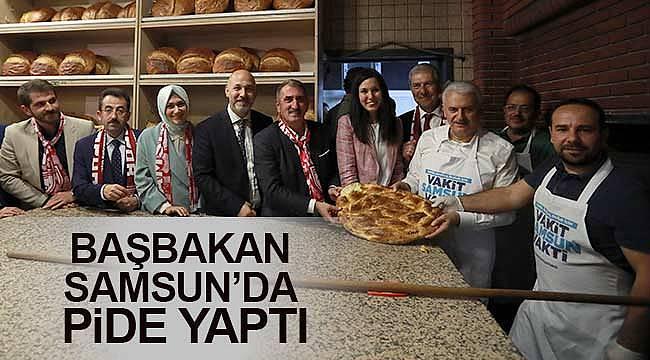 Başbakan Samsun'da pide pişirdi