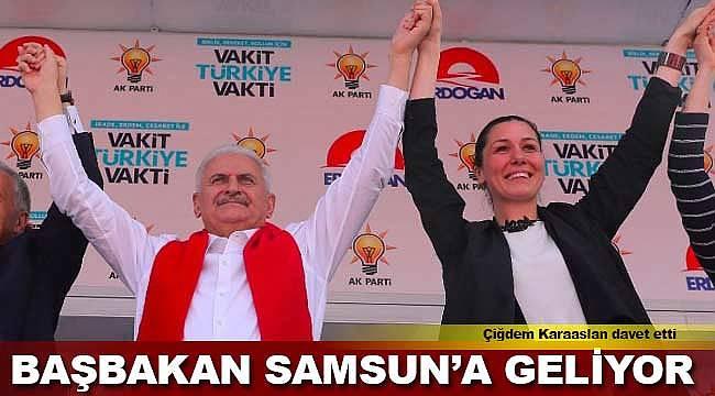 Başbakan Yıldırım'ın Samsun'a geliyor