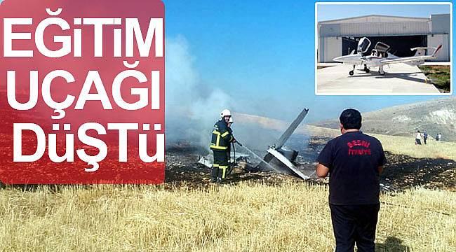 Eğitim uçağı düştü pilot öldü