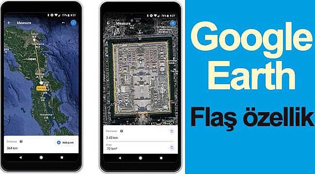 Google Earth mesafe ölçüm hizmeti geliyor