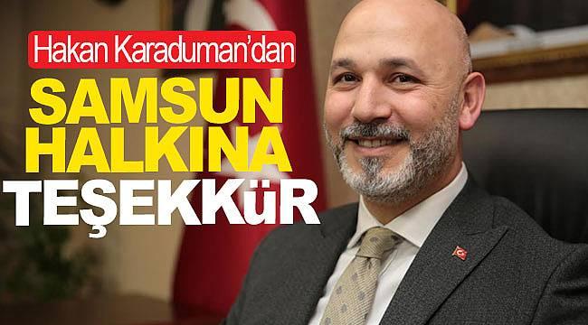 İl Başkanı Karaduman'dan Samsun halkına teşekkür