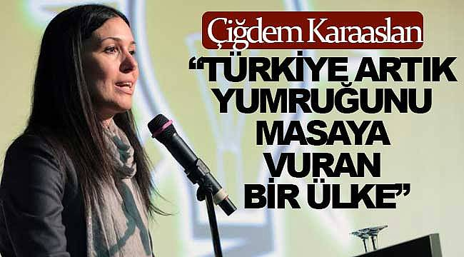 Karaaslan, Türkiye artık güçlü, gerekirse yumruğumuzu masaya vururuz
