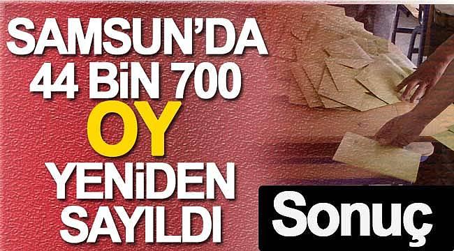 Samsun'da AK Parti'nin itirazı sonuçlandı